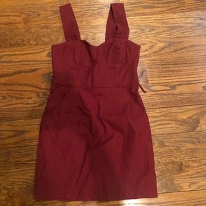 burgundy urban outfitters dress